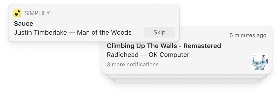 Native OS X notifications